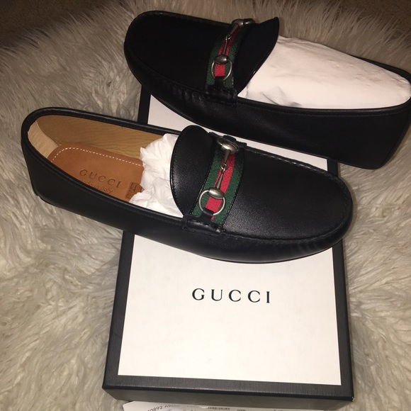 9a8cd44ad2d Gucci loafers leather driver with web